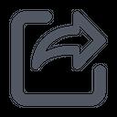 Export Send Forward Icon
