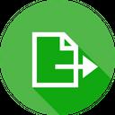 Export File Document Icon