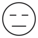 Artboard Expressionless Face Boring Face Icon