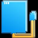 External Hard Disk Drive Ssd Storage Icon