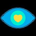 Dating Eye Love Icon