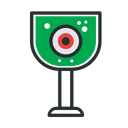 Eye Ball In Glass Icon