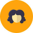 Face Girl Curly Icon