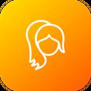 Face Girl Fold Icon