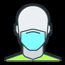 Man Mask Sick Icon