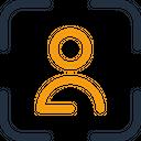 Face Scan Verification Access Icon
