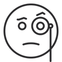 Face With Monocle Icon