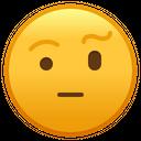Face With Raised Eyebrow Emoji Emoticon Icon
