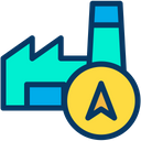Factory Direction Factory Location Navigation Pointer Icon