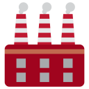 Factory Plant Manufacturing Icon