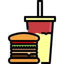 Hamburger Burger Drinks Icon