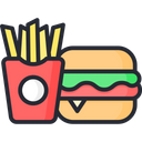 Fast Food Burger French Fries Icon
