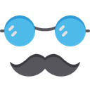 Father Spects Hipster Mustache Icon