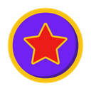 Like Star Heart Icon