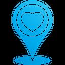 Favorite Pin Location Marker Favorite Icon