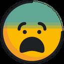 Emoticon Emoji Fearful Icon