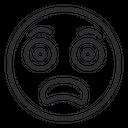 Artboard Fearful Face Awful Icon