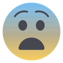 Fearful Face Face Screaming In Fear Emojis Icon