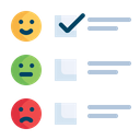 Feedback Form Satisfication Icon