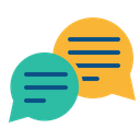 Feedback, Chat, Comment, Discussion, Message, Complaint, Bubble Icon in Flat Style