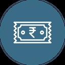 Fees Receipt Ticket Icon