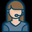 Female Consultant Customer Icon