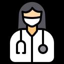 Female Dentist Avatar Profession Icon