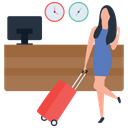 Female Tourist Tourist Gadgets Traveler Icon