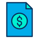 Bill Invoice Payment Receipt Icon