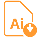 File Ai Download Icon