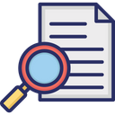 File With Magnifying Icon