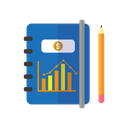 Note Book Finance Document Icon
