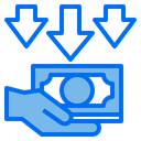 Hand Currency Down Icon