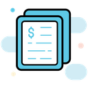 Fintech Report Financial Document Business Document Icon