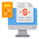 Computer Accounting File Icon