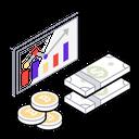 Financial Presentation Dollar Graphic Dollar Growth Icon