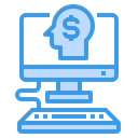 Human Mind Computer Business Icon