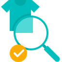 Find Clothe Searching Magnifier Icon