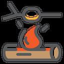 Fire Marshmallow Barbecue Icon