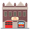 Fire Station Fire Department Architecture Icon
