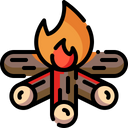 Firewood Bonfire Camping Icon