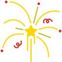 New Year Celebration Fireworks Icon