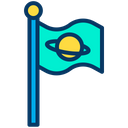 Accomplished Flag Planet Icon