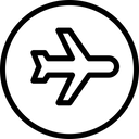 Flight Mode Plane Icon