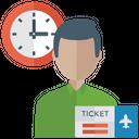 Flight Time Flight Schedule Airplane Ticket Icon