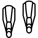 Sea Scubadiving Fins Icon