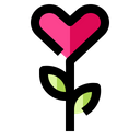 Flower Love Heart Icon