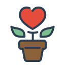 Flower Grow Love Icon