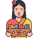 Flower Vendor Icon