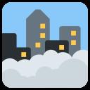 Foggy Weather Cityscape Icon